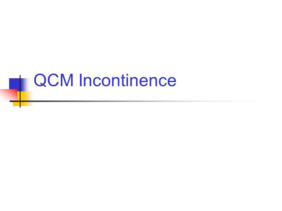 1 Incontinence urinaire deffort de la femme.Une réponse fausse 1.
