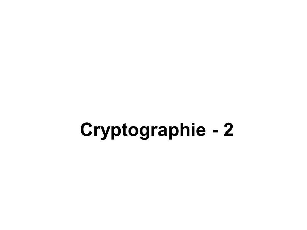 Cryptographie - 2