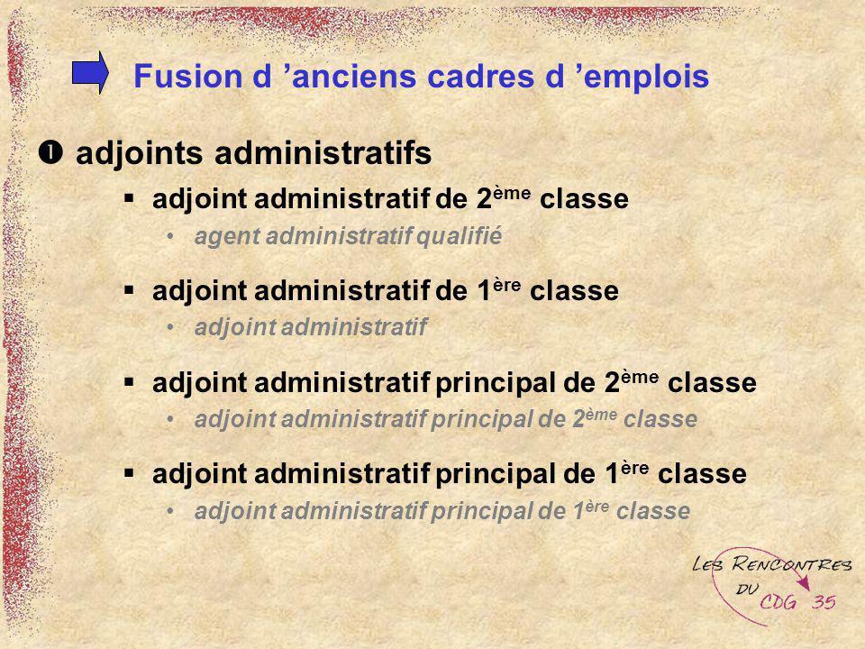 adjoints administratifs adjoint administratif de 2 ème classe agent administratif qualifié adjoint administratif de 1 ère classe adjoint administratif