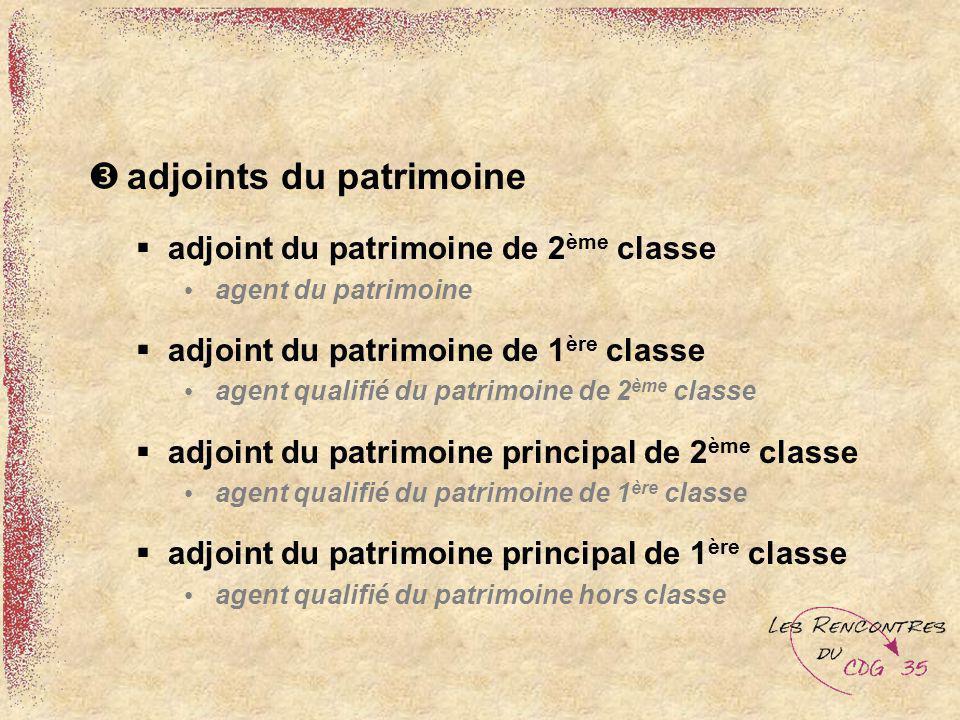 adjoints du patrimoine adjoint du patrimoine de 2 ème classe agent du patrimoine adjoint du patrimoine de 1 ère classe agent qualifié du patrimoine de