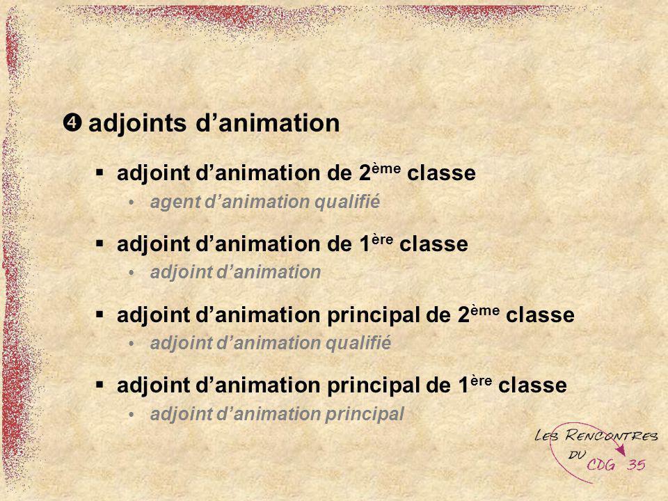 adjoints danimation adjoint danimation de 2 ème classe agent danimation qualifié adjoint danimation de 1 ère classe adjoint danimation adjoint danimat
