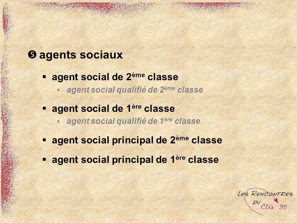 agents sociaux agent social de 2 ème classe agent social qualifié de 2 ème classe agent social de 1 ère classe agent social qualifié de 1 ère classe a