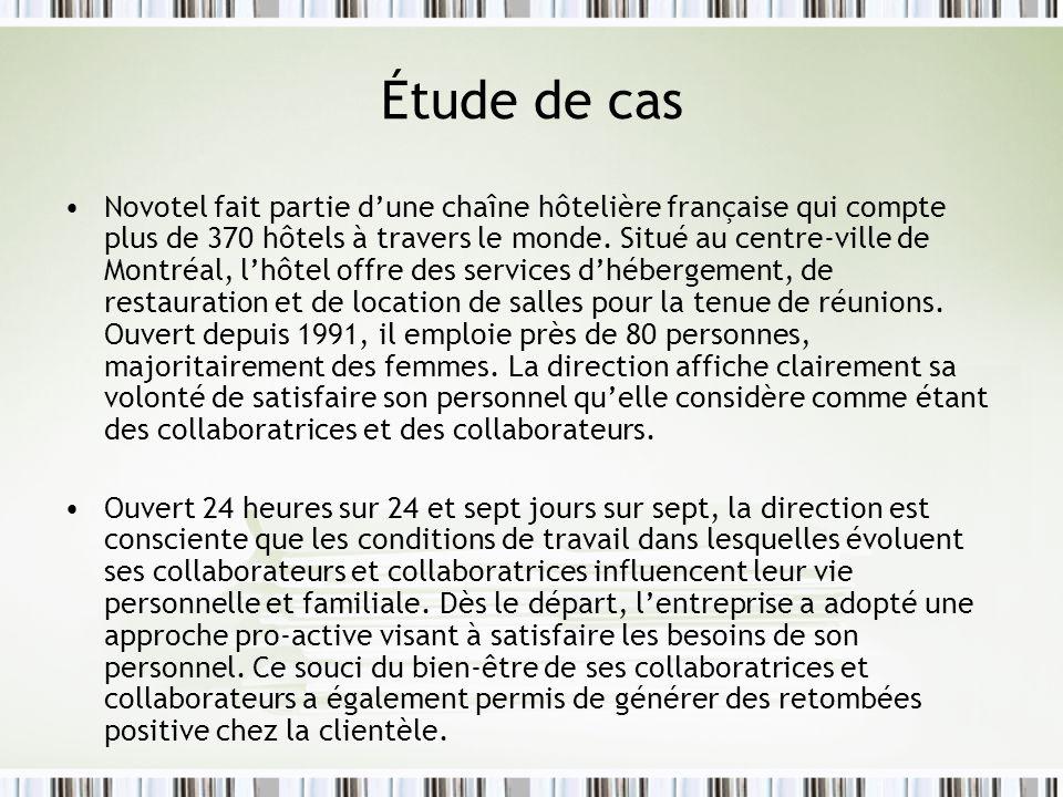 Étude de cas Novotel fait partie dune chaîne hôtelière française qui compte plus de 370 hôtels à travers le monde. Situé au centre-ville de Montréal,