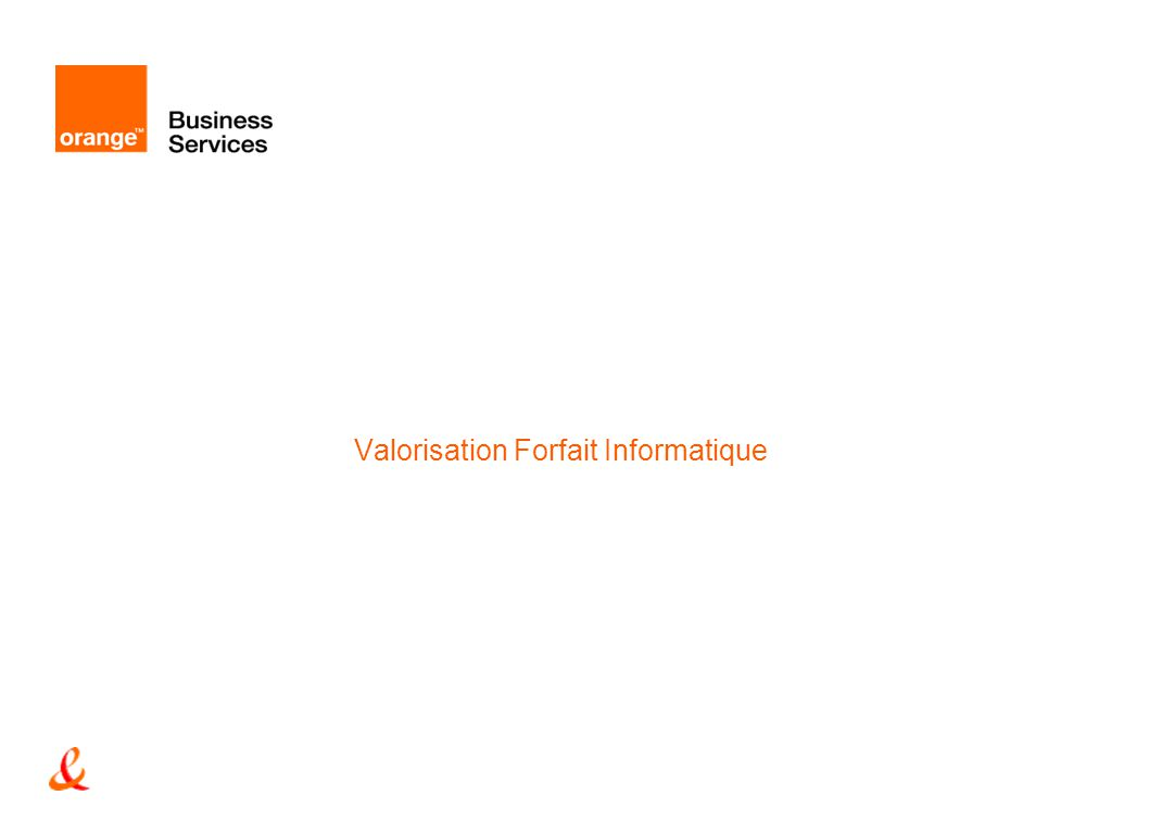 Valorisation Forfait Informatique