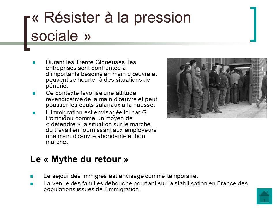 d. La dernière vague migratoire Daprès le texte de Philippe Bernard, journaliste au Monde (2002) Expliquez la citation de Georges Pompidou Quelle est