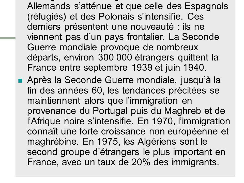 c. Lorigine géographique des immigrés Comment évolue, géographiquement, le recrutement des populations immigrées ? (Source : Wikipédia)