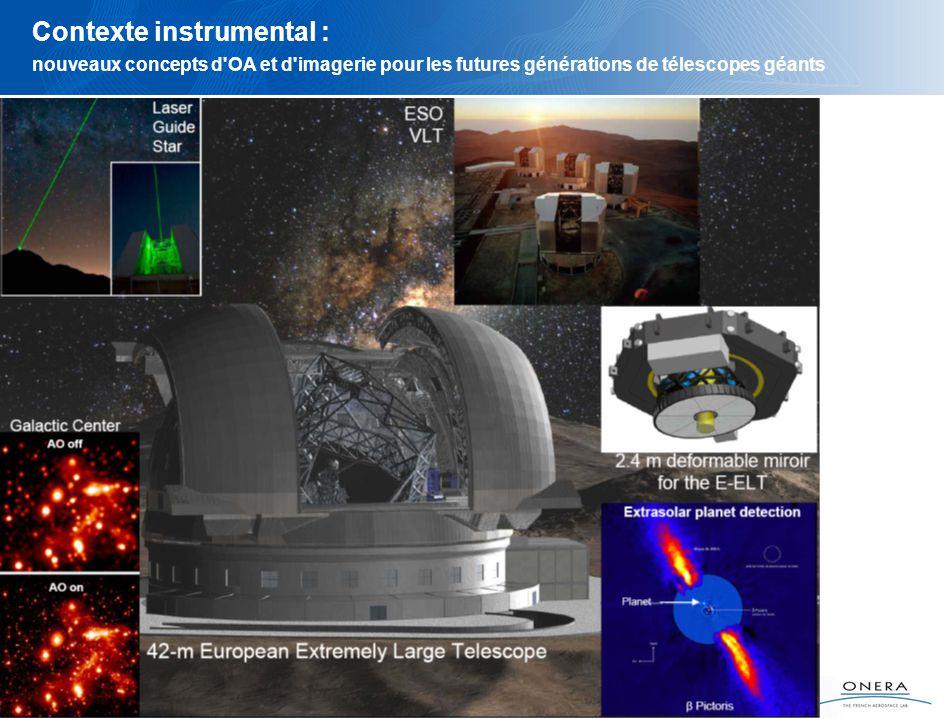 5 Contexte instrumental : nouveaux concepts d OA et d imagerie pour les futures générations de télescopes géants