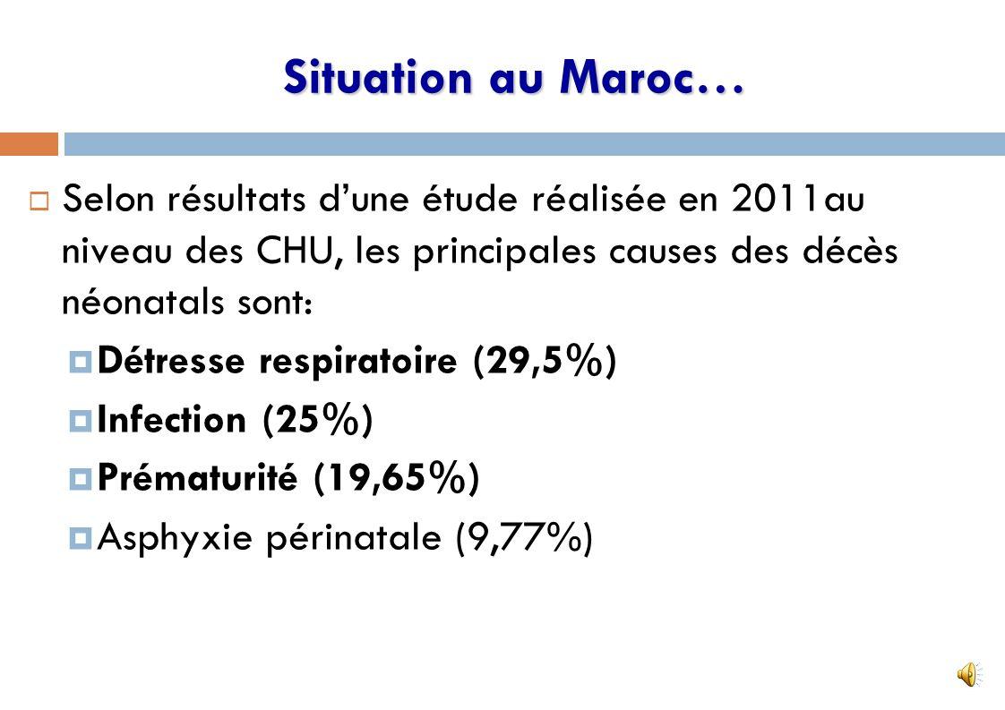 Chaque jour 54 enfants de moins de 5 ans meurent dont: 51 avant l âge d1 an et 38 avant leur 1 er mois de naissance (71%) 7 Situation au Maroc…