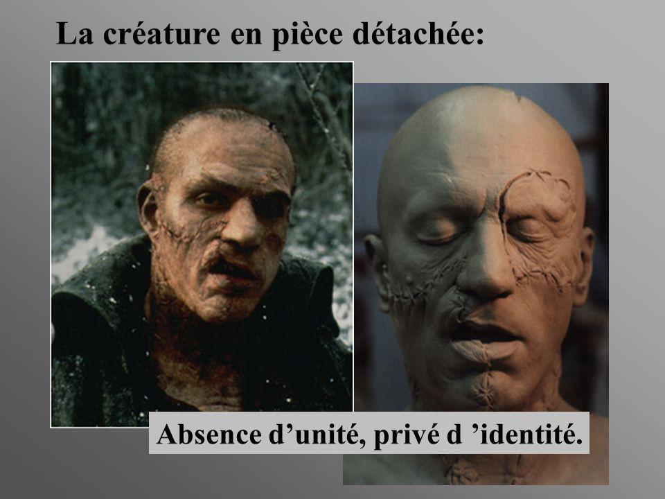 La créature en pièce détachée: Absence dunité, privé d identité.