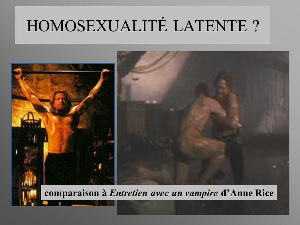 comparaison à Entretien avec un vampire dAnne Rice HOMOSEXUALITÉ LATENTE ?