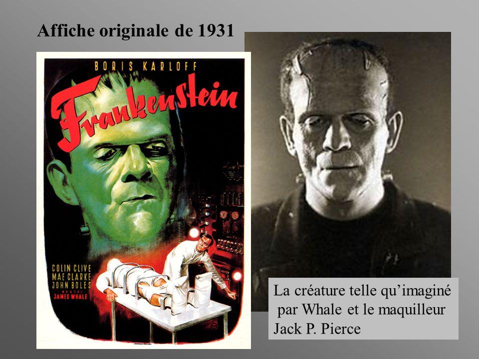 Affiche originale de 1931 La créature telle quimaginé par Whale et le maquilleur Jack P. Pierce