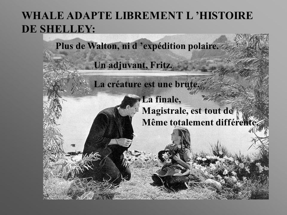 WHALE ADAPTE LIBREMENT L HISTOIRE DE SHELLEY: Plus de Walton, ni d expédition polaire.