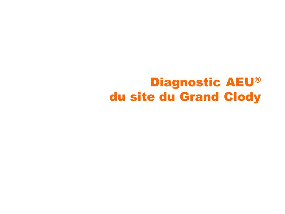 Diagnostic AEU ® du site du Grand Clody