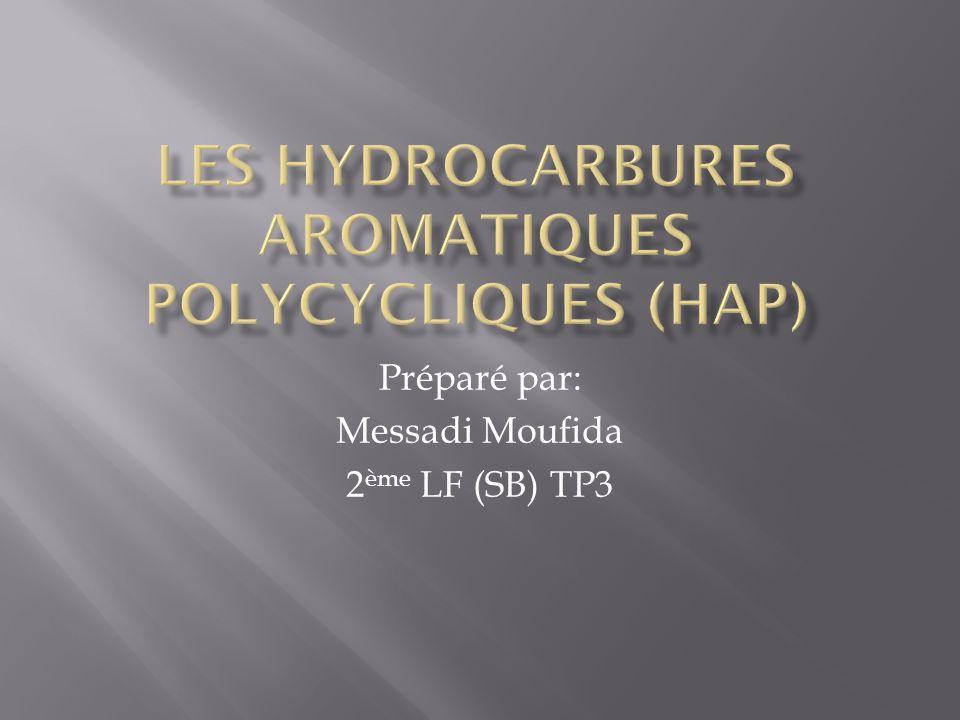 Les hydrocarbures aromatiques polycycliques (HAP) sont des constituants naturels du charbon et du pétrole, ou qui proviennent de la combustion incomplète de matières organiques telles que les carburants, le bois, le tabac.