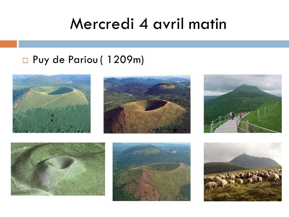 Mercredi 4 avril matin Puy de Pariou ( 1209m)