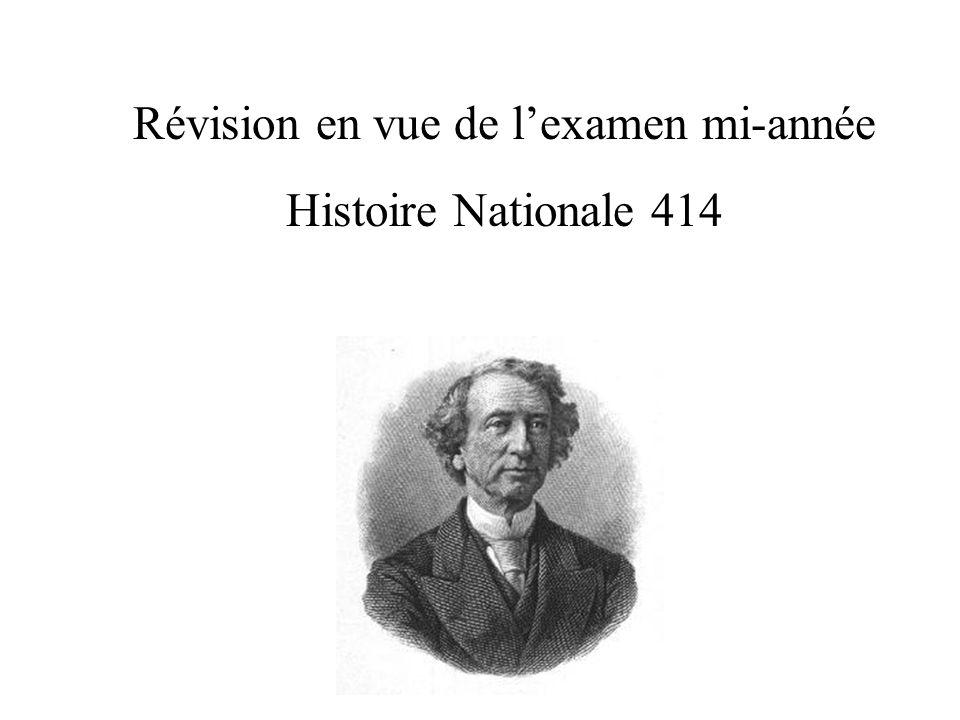 Révision en vue de lexamen mi-année Histoire Nationale 414