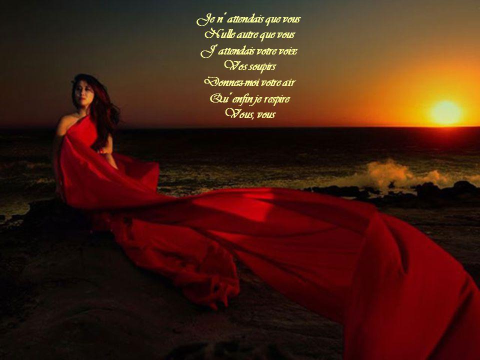 Je n´attendais que vous Je n´espérais que vous J´ai marché si longtemps Je viens de loin Le monde est trop grand Trop long le chemin