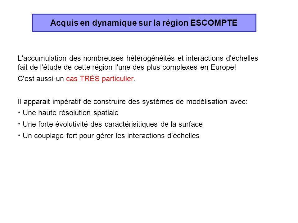 L'accumulation des nombreuses hétérogénéités et interactions d'échelles fait de l'étude de cette région l'une des plus complexes en Europe! C'est auss