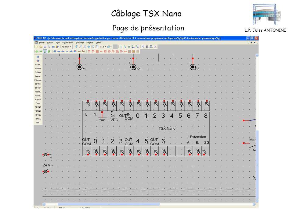 L.P. Jules ANTONINI Câblage TSX Nano Page de présentation