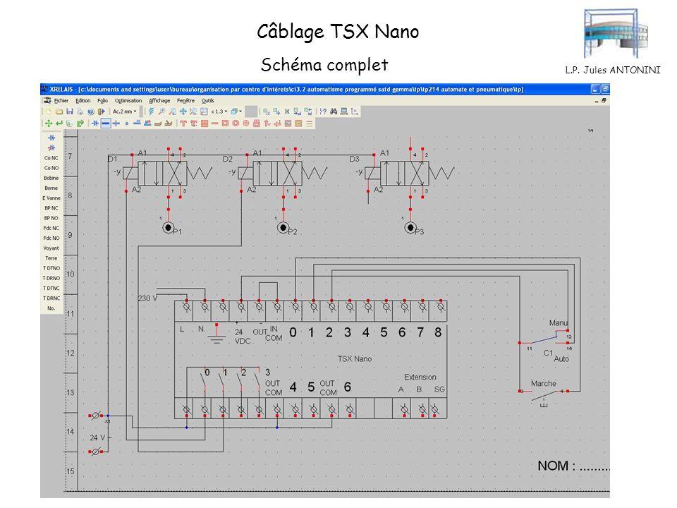 L.P. Jules ANTONINI Câblage TSX Nano Schéma complet