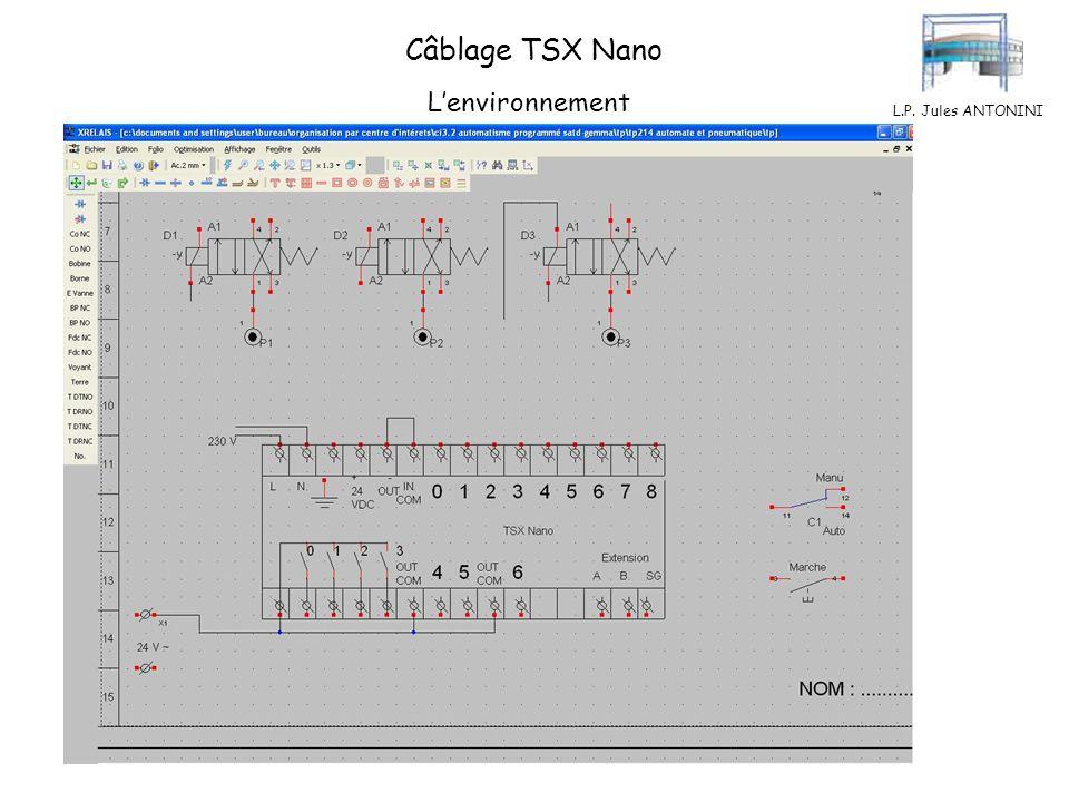L.P. Jules ANTONINI Câblage TSX Nano Le commun des entrées