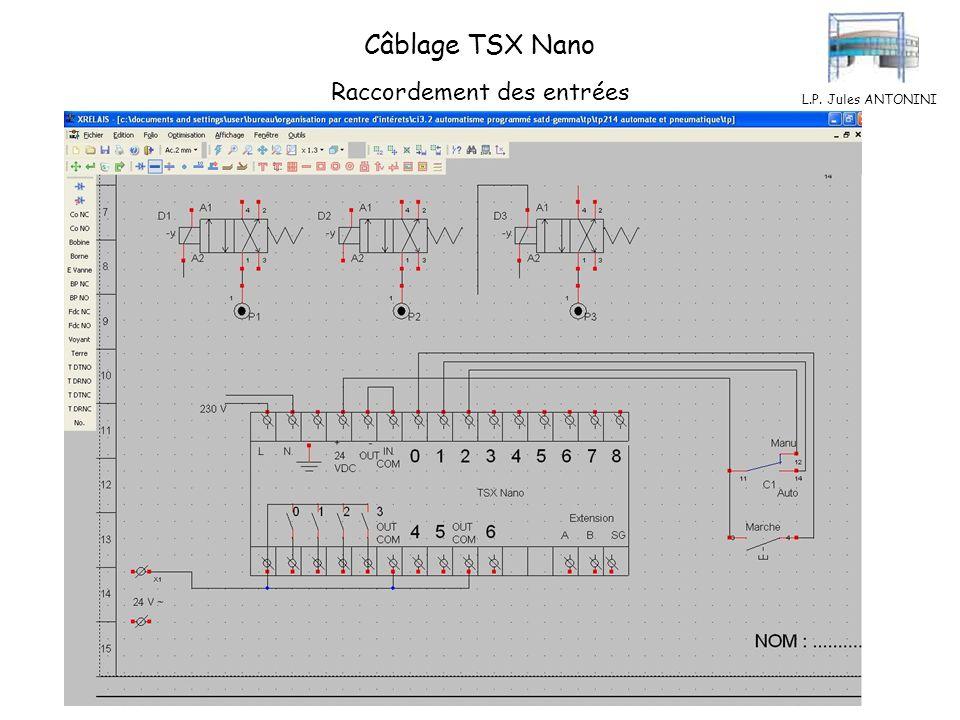 L.P. Jules ANTONINI Câblage TSX Nano Commun des sorties