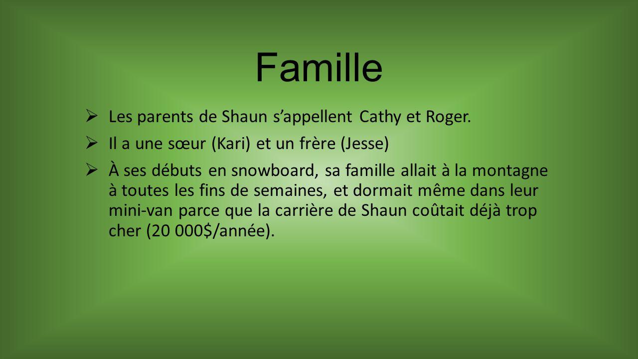 Famille Les parents de Shaun sappellent Cathy et Roger.