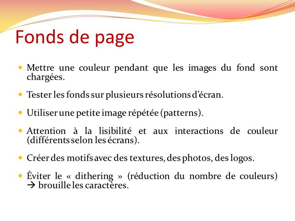Fonds de page Mettre une couleur pendant que les images du fond sont chargées.