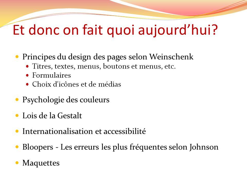 Principes du design de pages