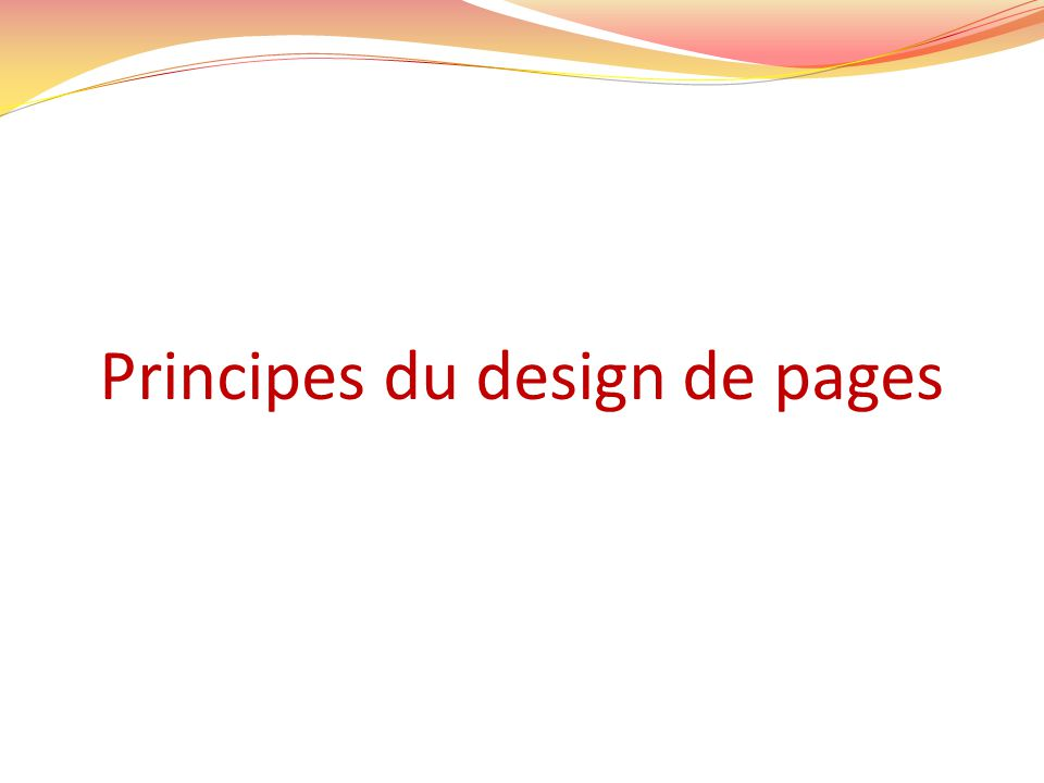 Principes du design de pages