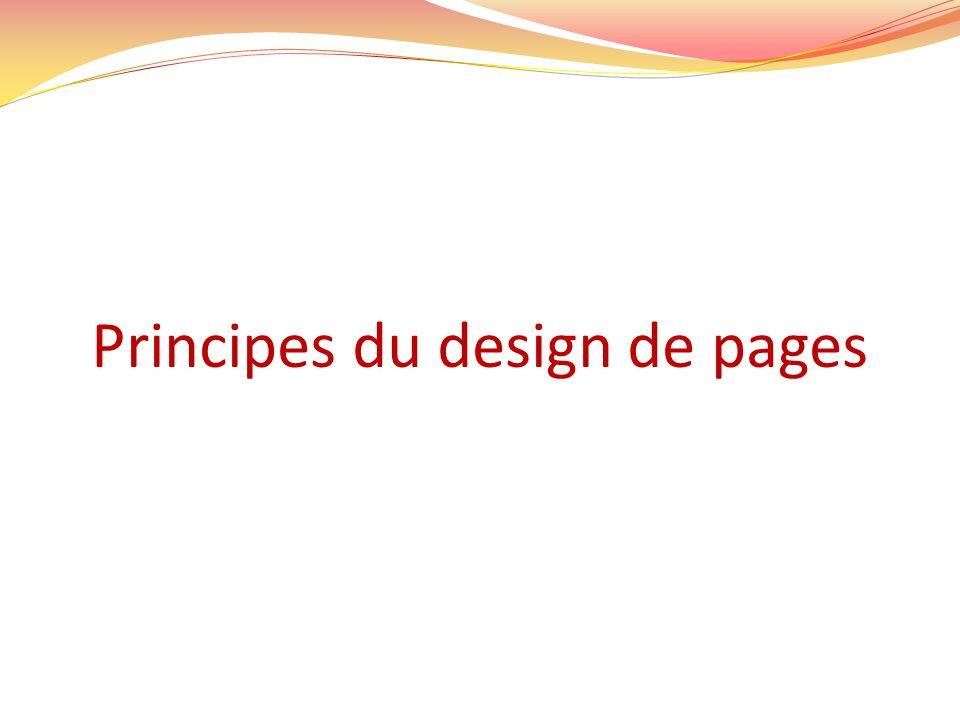 Principes du design de pages Weinschenk & al.Ch.