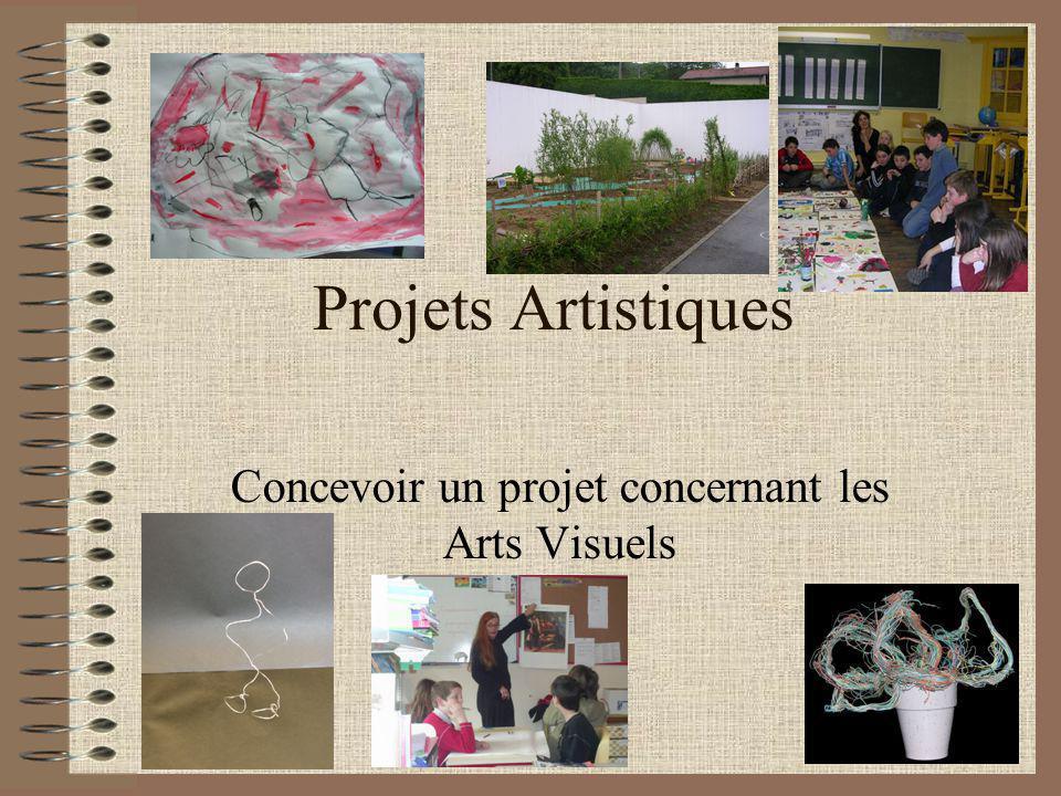 Projets Artistiques Concevoir un projet concernant les Arts Visuels