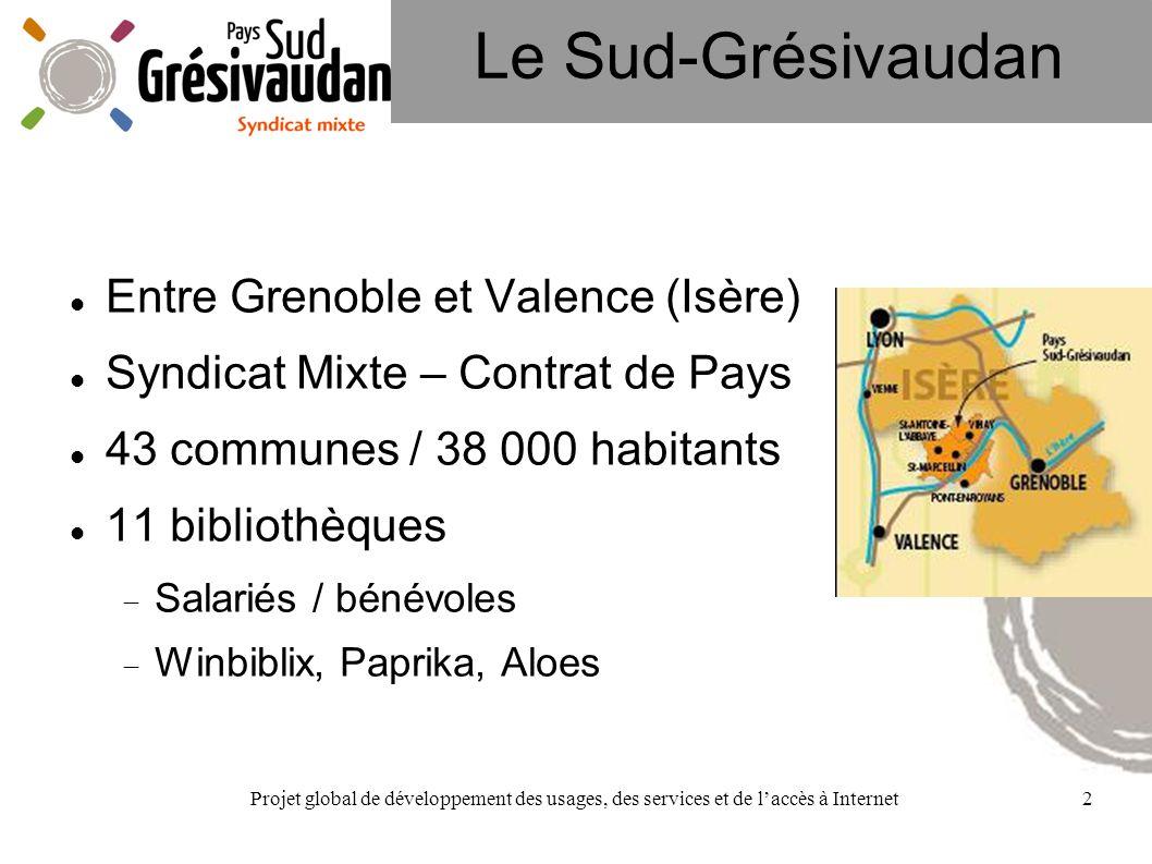 Projet global de développement des usages, des services et de laccès à Internet2 Le Sud-Grésivaudan Entre Grenoble et Valence (Isère) Syndicat Mixte –