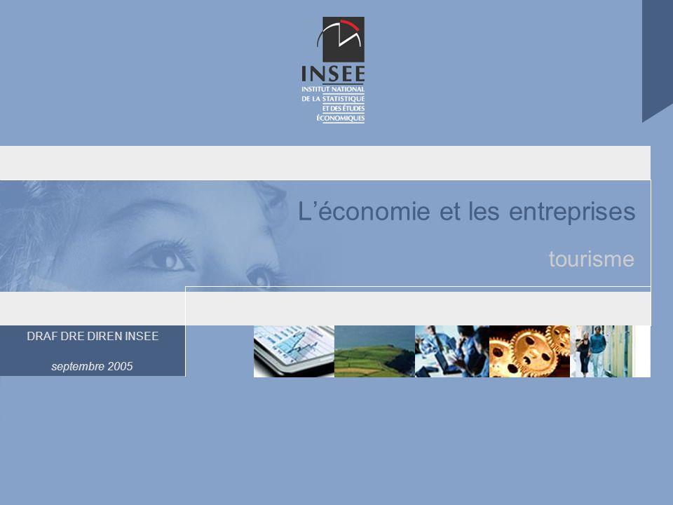 DRAF DRE DIREN INSEE septembre 2005 Léconomie et les entreprises tourisme