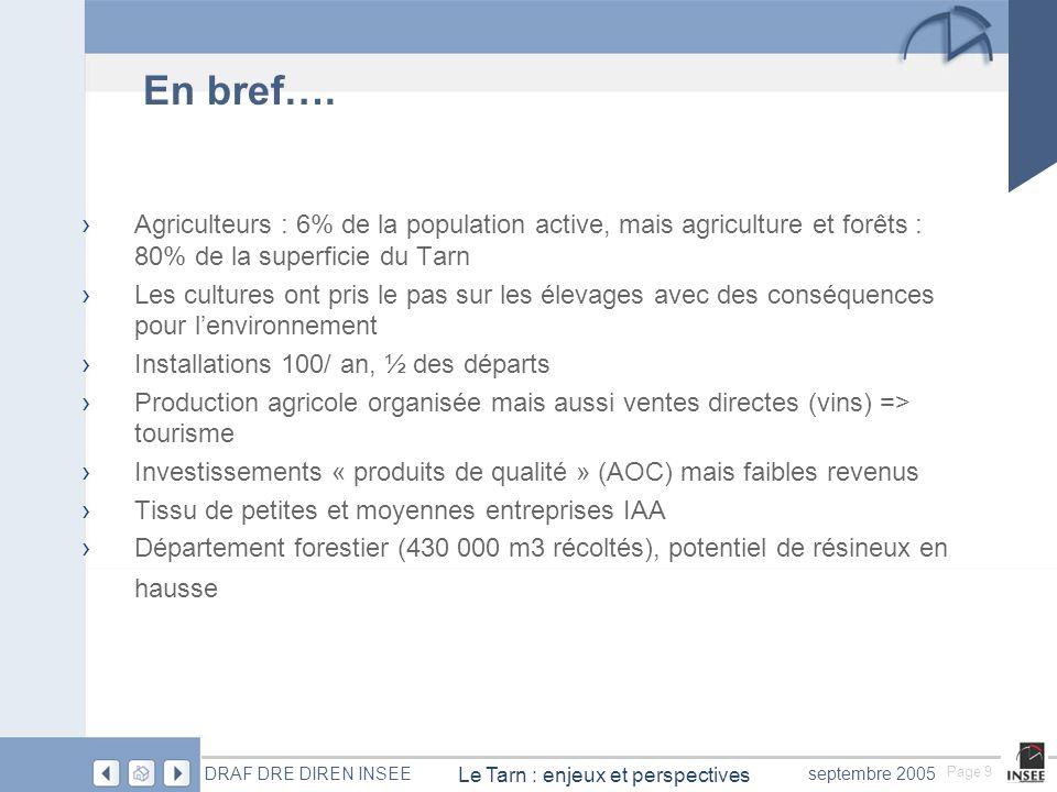 DRAF DRE DIREN INSEE septembre 2005 3- Qualité des produits et sécurité alimentaire