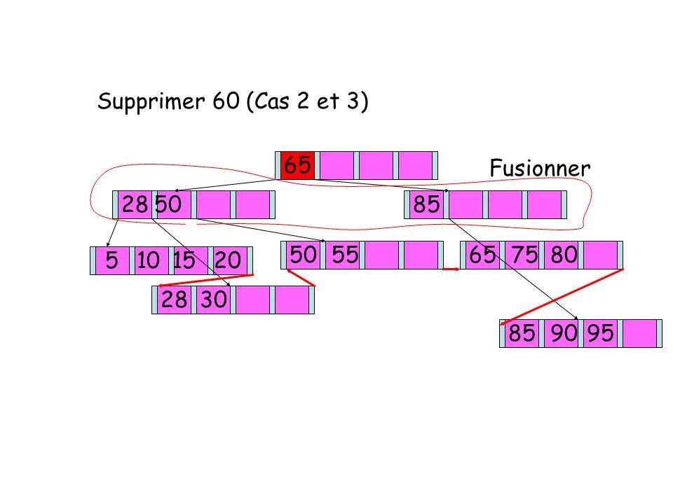 Supprimer 60 (Cas 2 et 3) 65 2850 85 50 55 5101520 2830 65 75 80 85 9095 Fusionner