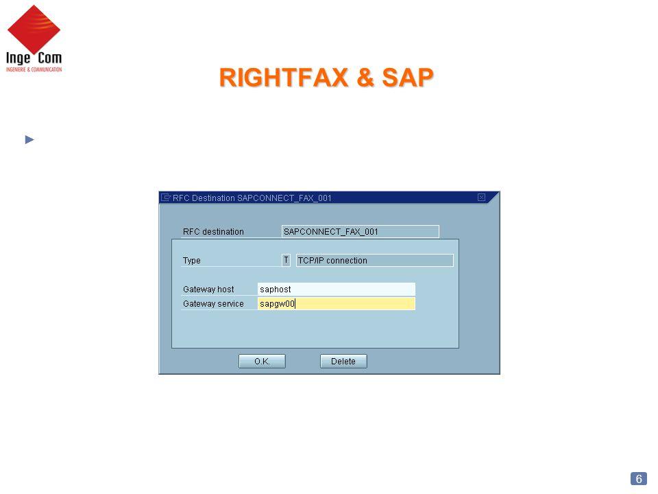 7 RightFAX & SAP