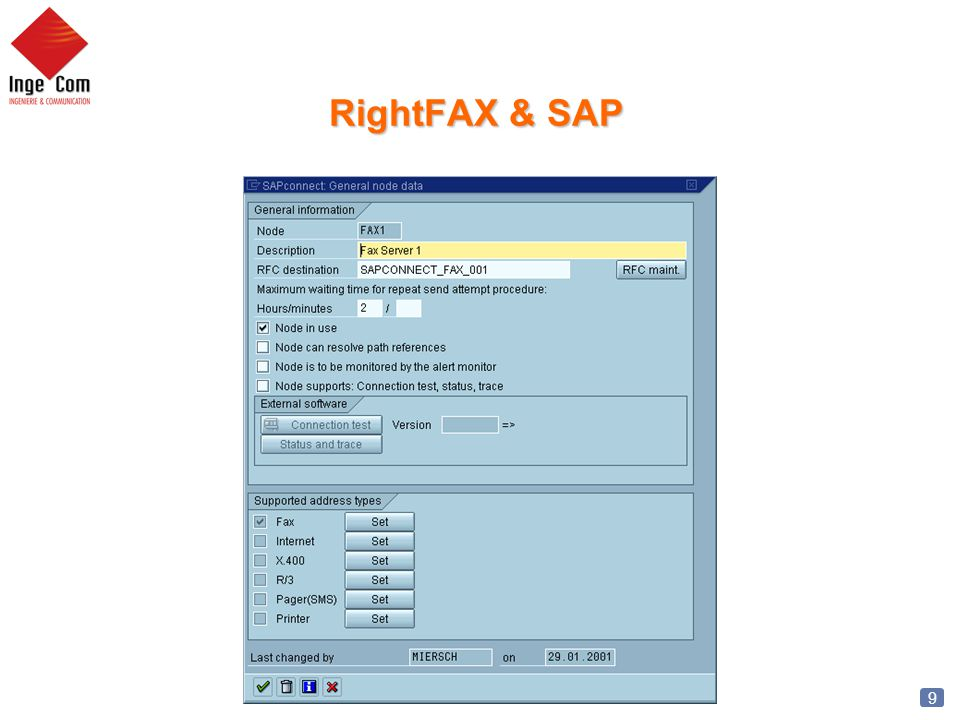 10 RightFAX & SAP