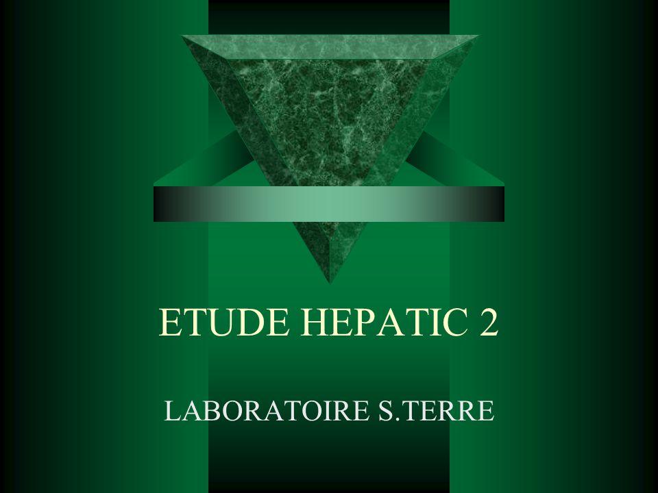 ETUDE HEPATIC 2 LABORATOIRE S.TERRE