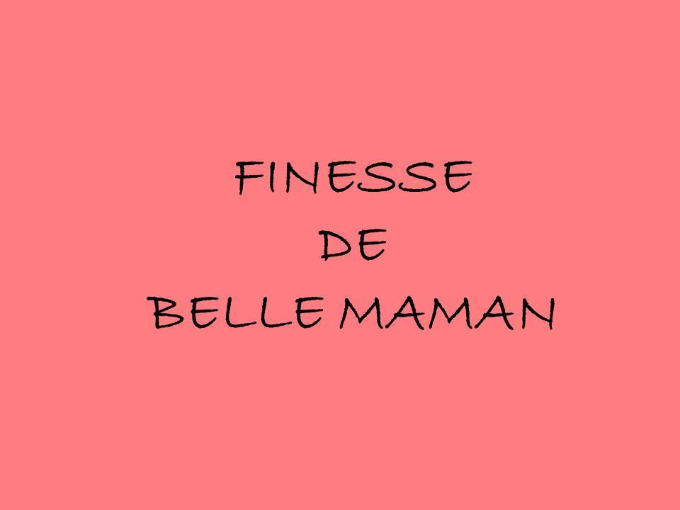 FINESSE DE BELLE MAMAN
