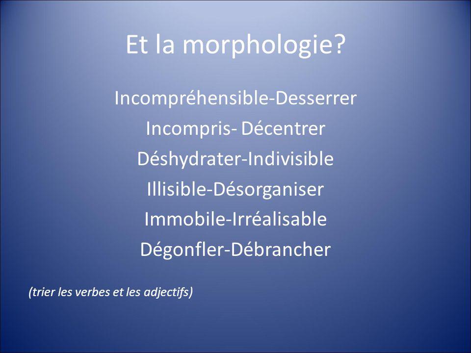 Et la morphologie.