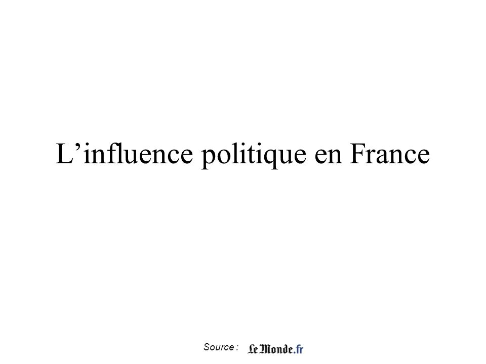 Source : Linfluence politique en France
