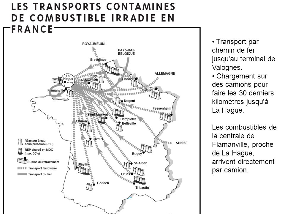 Transport par chemin de fer jusqu au terminal de Valognes.