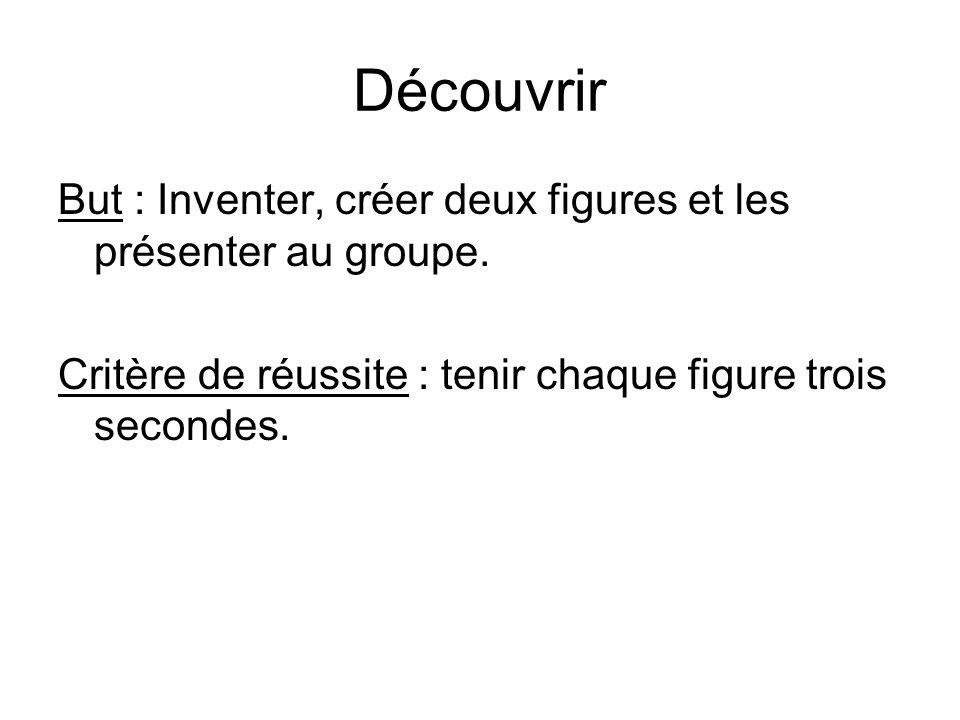 Découvrir But : Inventer, créer deux figures et les présenter au groupe.