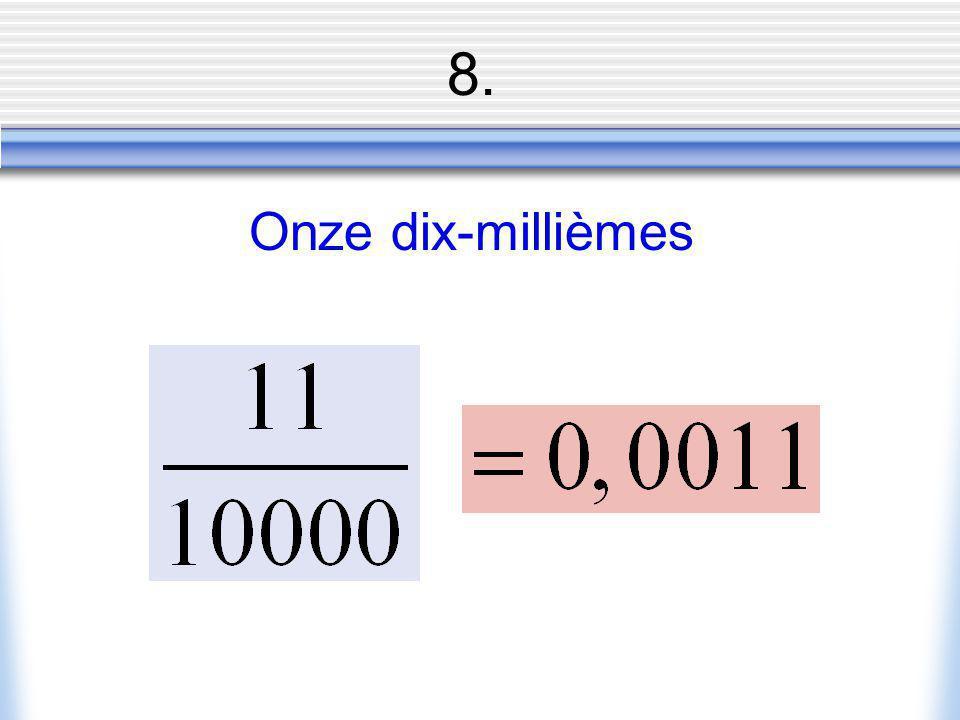 8. Onze dix-millièmes