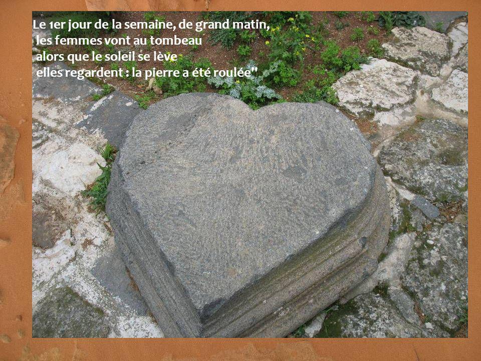 Qui nous roulera la pierre ?...Qui ? ''Car la pierre était fort grande...