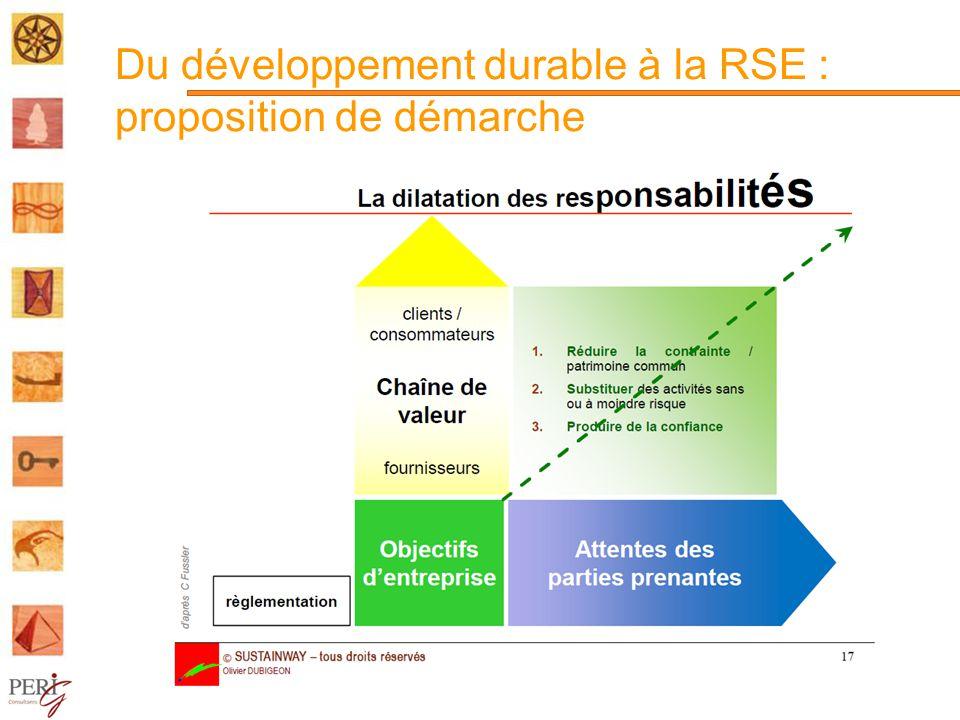 Du développement durable à la RSE : proposition de démarche