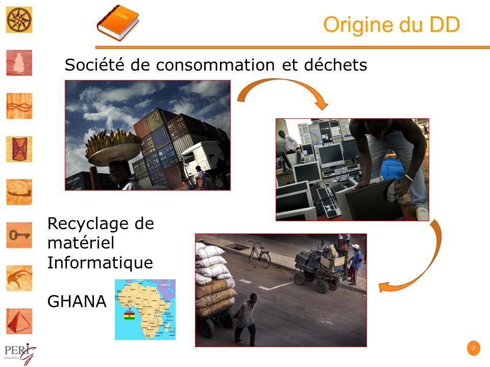 Origine du DD 7 Recyclage de matériel Informatique GHANA Société de consommation et déchets