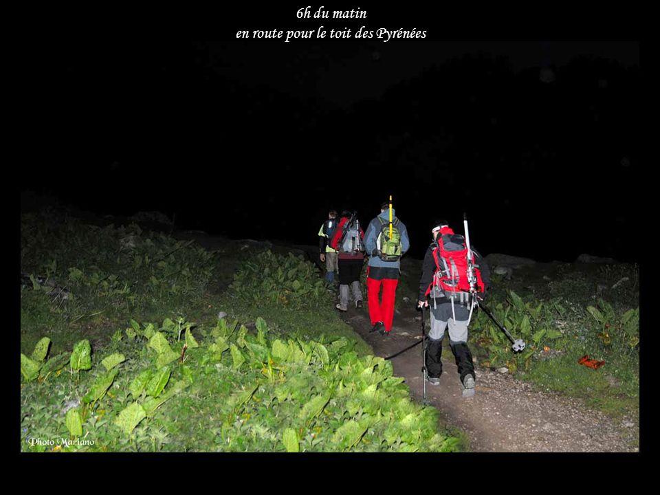 ...... 6h du matin en route pour le toit des Pyrénées