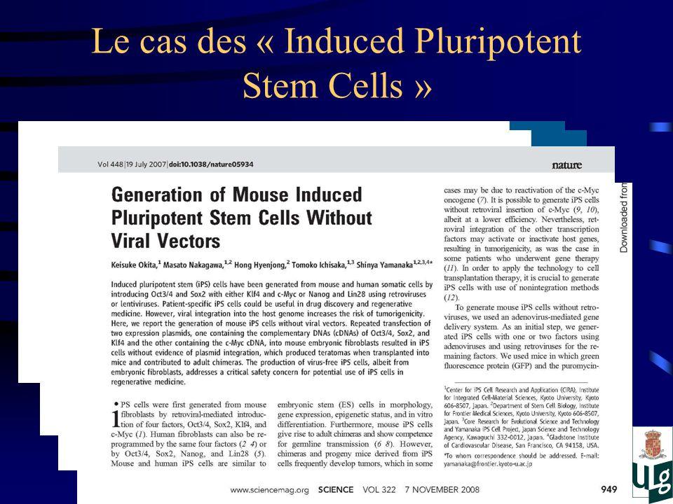 Le cas des « Induced Pluripotent Stem Cells »